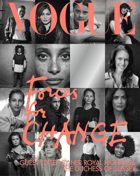 המהדורה הבריטית של ווג הצליחה לצקת משמעות בגיליון ספטמבר הנחשב על ידי בחירה במייגן מרקל כעורכת אורחת והתמקדות ב-15 נשים משפיעות ומובילות בתחומן (צילום: שער המגזין)