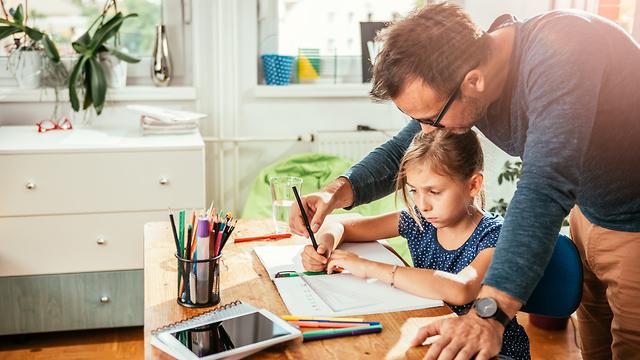 שיעורים אבא לימודים בריאות הורים  (צילום:shutterstock)
