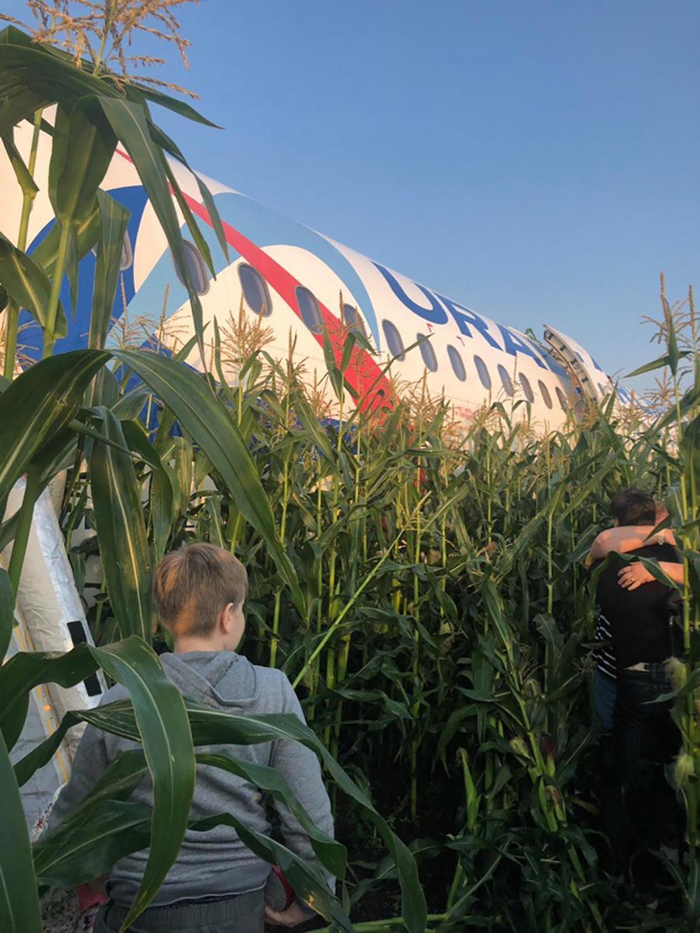 מטוס איירבוס A321 אורל איירליינס נחיתת חירום ליד מוסקבה רוסיה (צילום: mct)