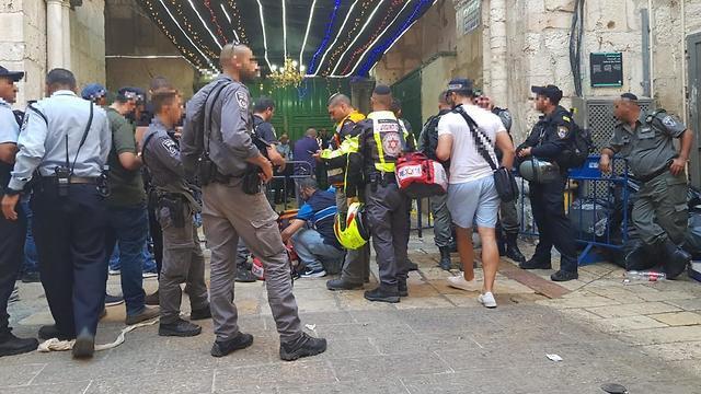 The stabbing scene (Photo: MDA)