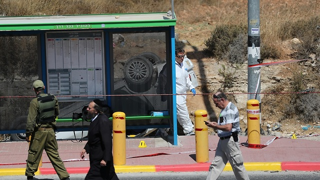 פיגוע דריסה גוש עציון (צילום: רויטרס)