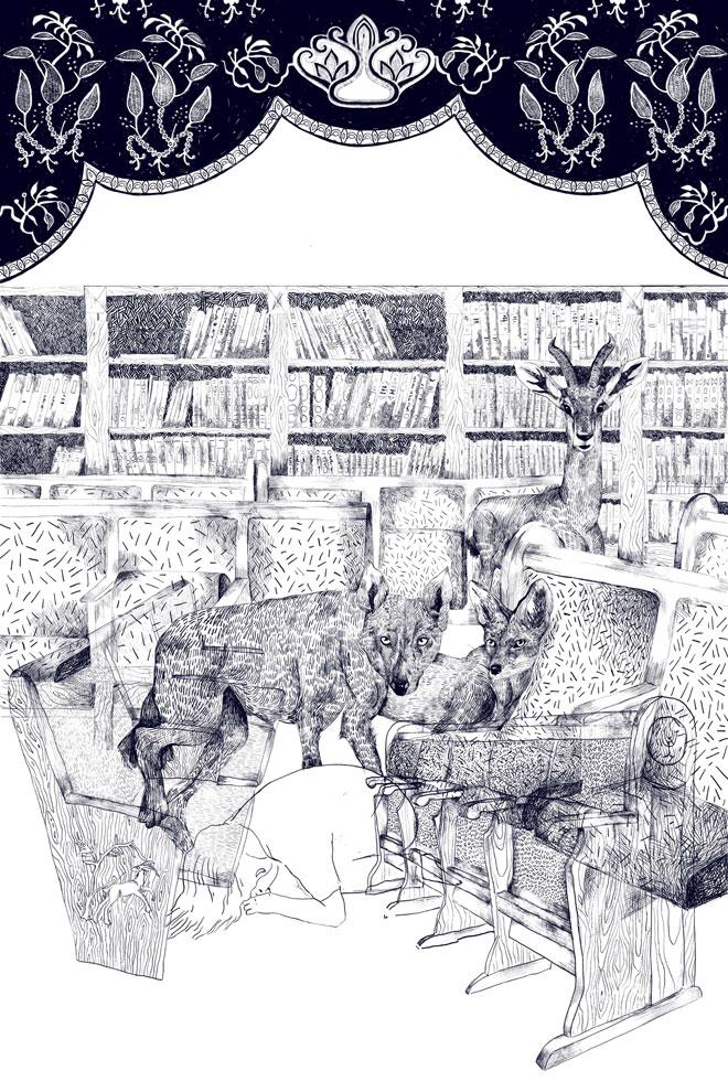 שבע הפרוכות של כנרת נעם היו שיא דרמטי בתערוכה (צילום: כנרת נעם)