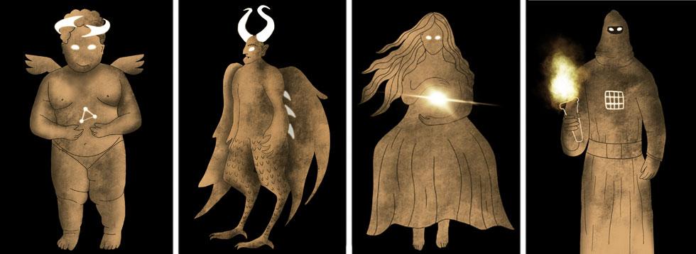 אלה אלדדי (ויצו חיפה) נוגעת במיתולוגיה היהודית, ב-20 קלפים מרהיבים (צילום: באדיבות המרכז האקדמי ויצו חיפה)