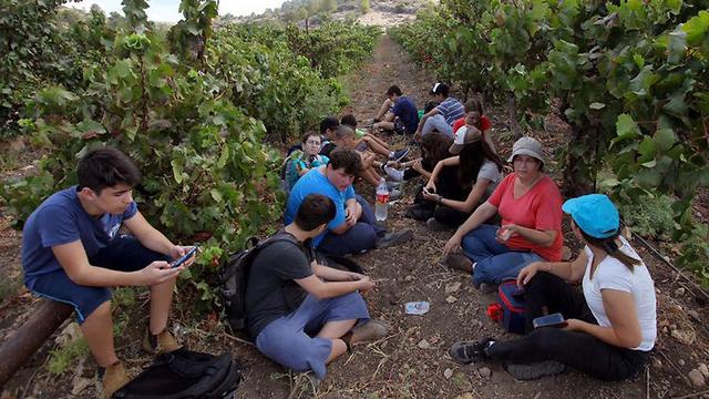 תלמידים מכפר הנוער החלקאי מאיר שפייה (באדיבות כפר הנוער מאיר שפיה)