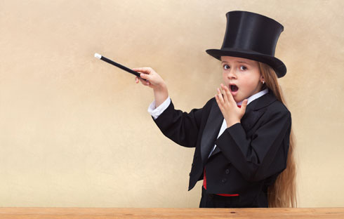 לעבוד על מופע קסמים (צילום: Shutterstock)