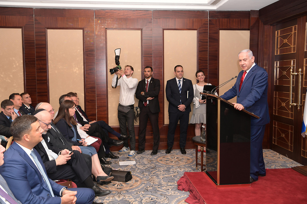 Prime Minister Benjamin Netanyahu in Kiev (Photo: GPO) (Photo: Amos Ben Gershom, GPO)