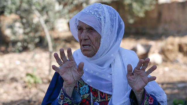 Muftia Tlaib at the village of Beit Ur Al-Fauqa