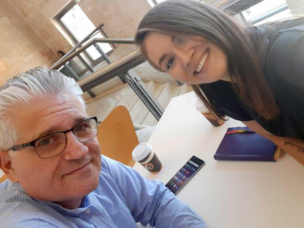 Анна Немков и Эли Авидар, НДИ. Фото: личный архив
