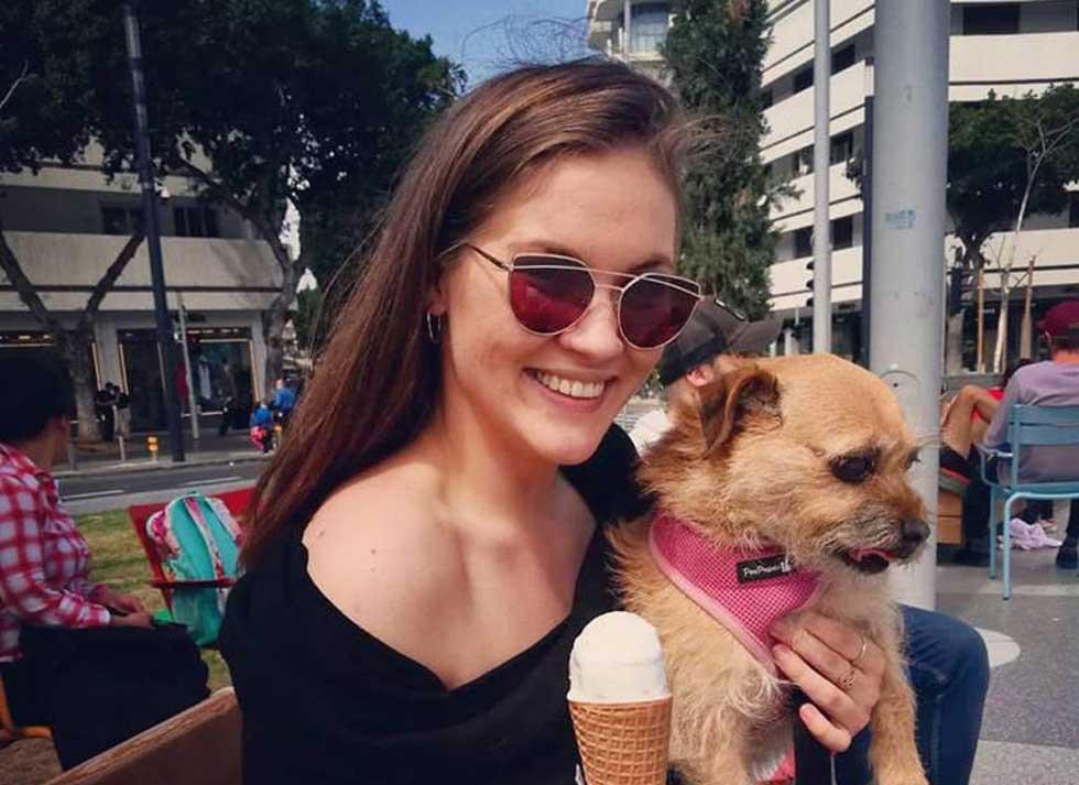 Анна Немков с собачкой Джой. Фото: личный архив