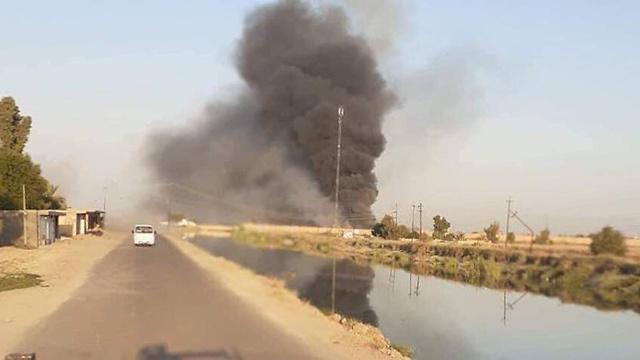 עשן תקיפה בסיס חיל אוויר אל-בכר