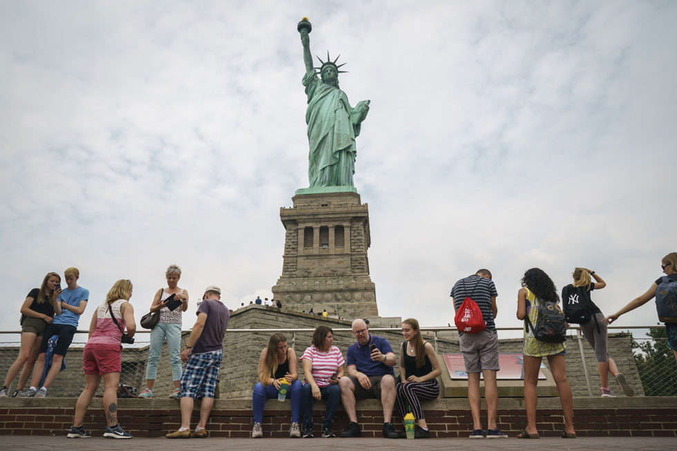פסל החירות. נהפך לסמל והונצח בעשרות סרטים (צילום: Drew Angerer/GettyimagesIL)