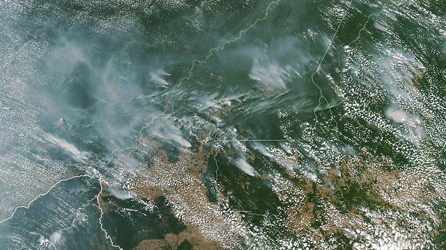 ברזיל שריפות ב אזור ה אמזונס תמונת לוויין (צילום: EPA)