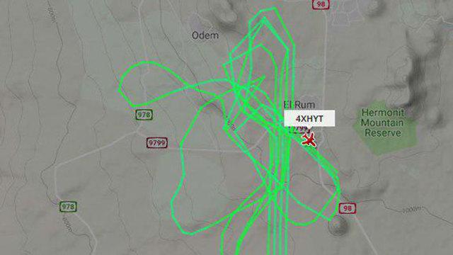 מסלול המטוס (צילום: FlightRdar24)