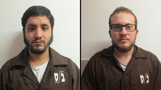 Suspected Islamic State ideologues Amin Yassin, left, and Ali Armush, right (Photo: Shin Bet security service)