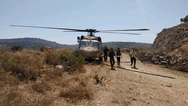 Эвакуация раненых на вертолете ЦАХАЛа. Фото: пресс-служба МАДА