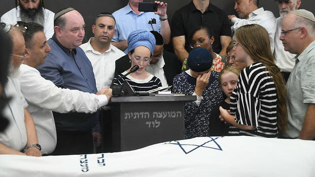 The funeral for Rina Shnerb in Lod (Photo: Yair Sagi)