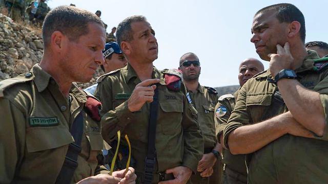 IDF Chief of Staff,Aviv Kochavi, center, at the site of the deadly terror attack (Photo: IDF Spokesperson's Unit)