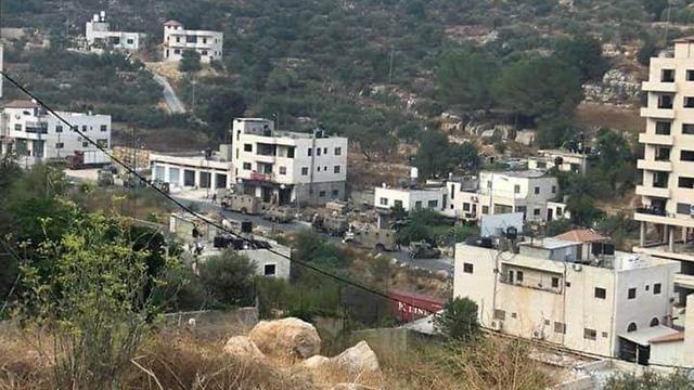 The village of Ein Arik where the 3 men were arrested