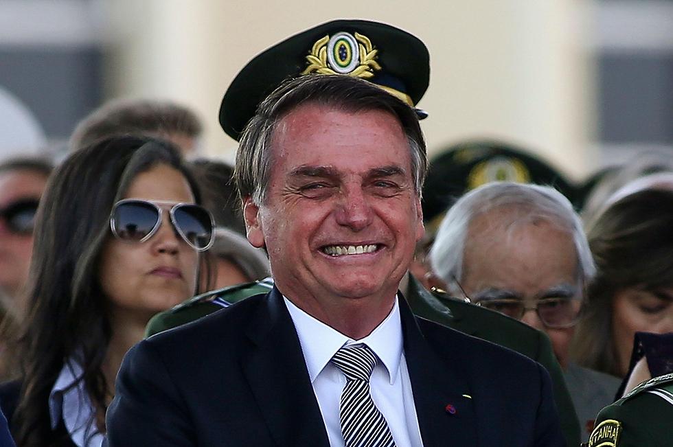 נשיא ברזיל ז'איר בולסונרו (צילום: AFP)