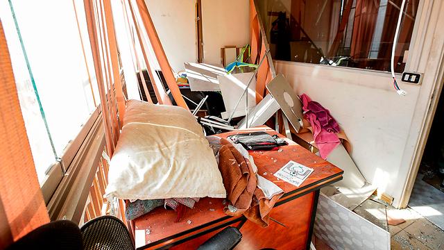 הנזק בביירות (צילום: AFP)