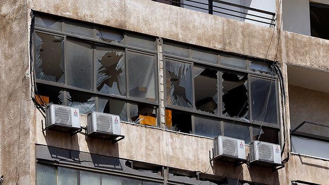 הנזק בביירות (צילום: AP)