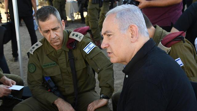 Prime Minister Netanyahu touring the Northern Border with the  Chief of Staff (Photo: GPO)