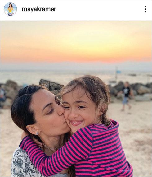 """עם הבת המשותפת הילה. """"היא בעדיפות הראשונה"""" (צילום: מתוך האינסטגרם של mayakramer@)"""
