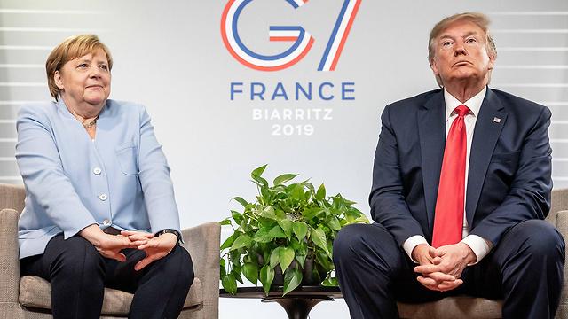 דונלד טראמפ ג'סטין טרודו ועידה G7 צרפת (צילום: MCT)