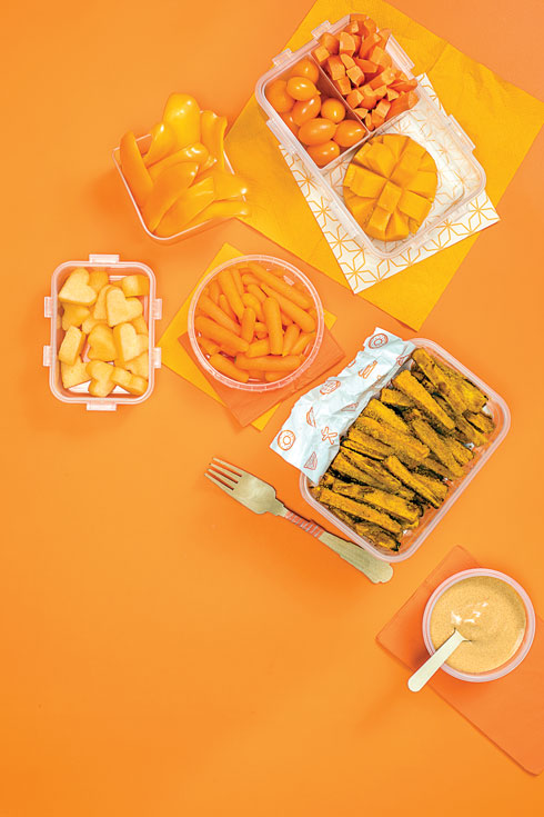 ארוחת עשר כתומה (צילום: אסף אמברם, סגנון: טליה הדר)