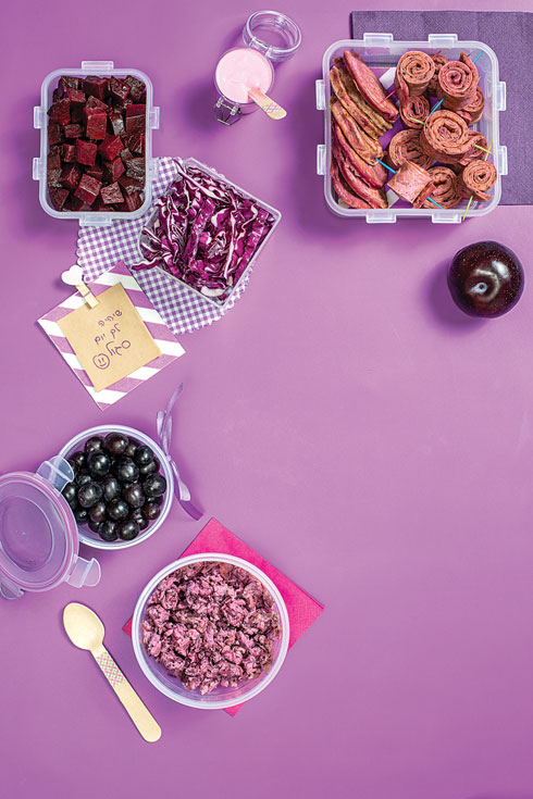 ארוחת עשר סגולה (צילום: אסף אמברם, סגנון: טליה הדר)