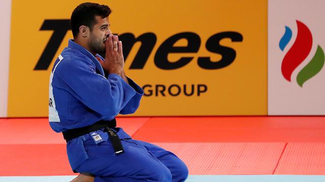Sagi Muki after his win (Photo: Reuters)
