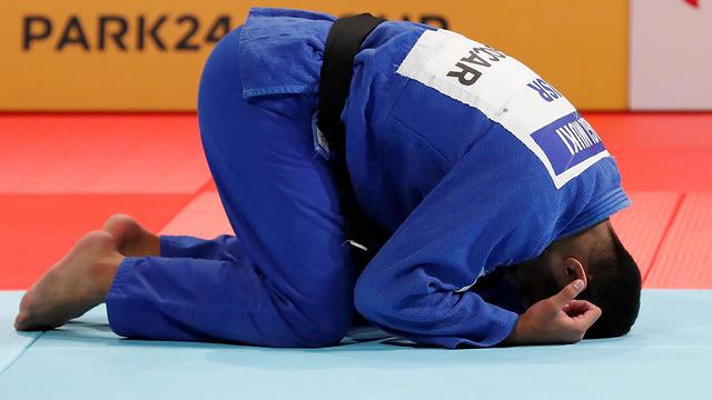 Israeli judoka Sagi Muki wins the World Championships in Tokyo (Photo: Reuters)