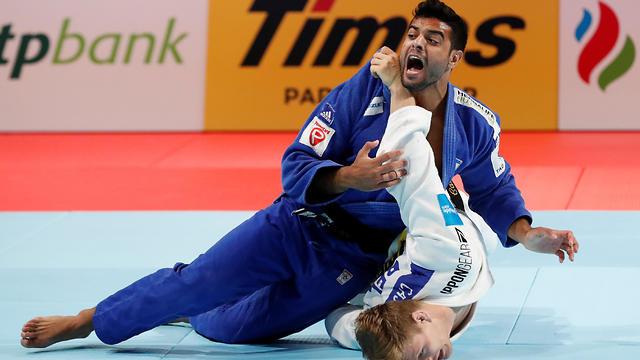 Sagi Muki during his winning final match (Photo: Reuters)