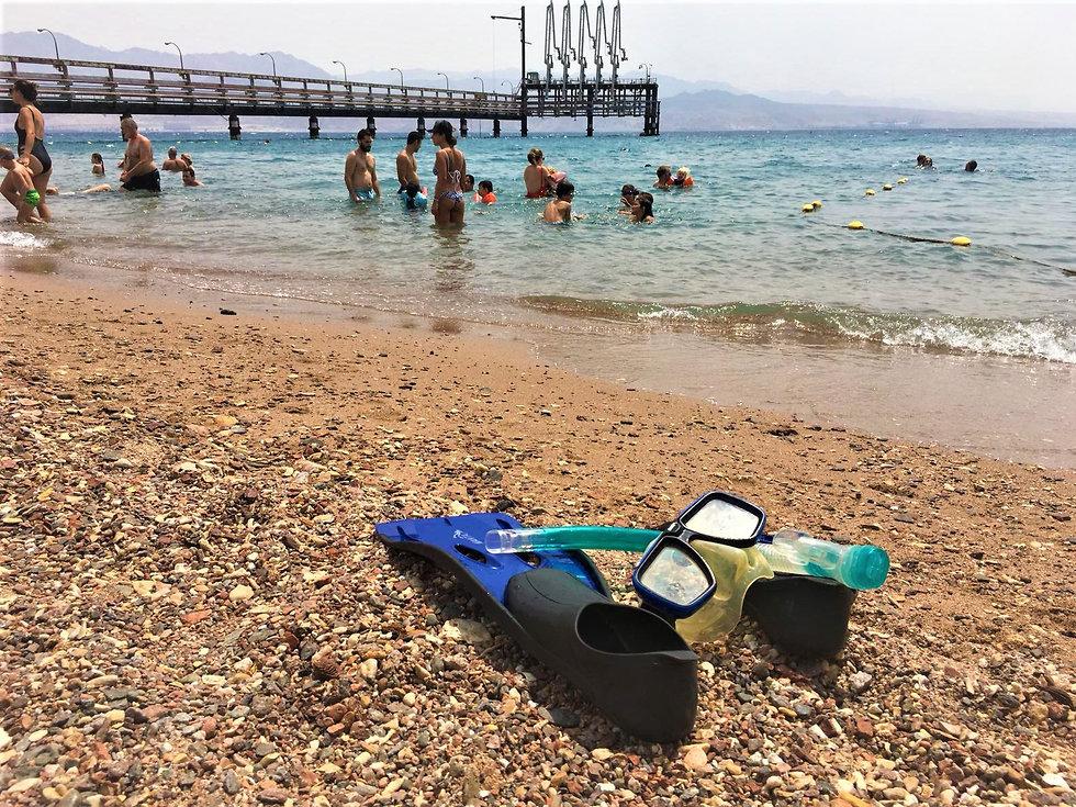 החוף הסודי באילת (צילום: יעל לרנר)