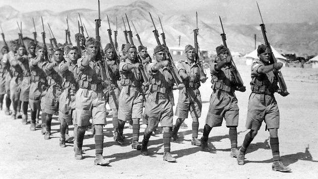 Jewish soldiers in the British Army (Photo: Defense Ministry Archive)