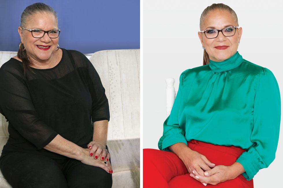"""לפני ואחרי השינוי. """"החלק החשוב הוא לאכול כמעט כל שעתיים במנות קטנות"""" (צילומים: רונן פדידה, סגנון: הילה ג'רבי, צביקה טישלר)"""