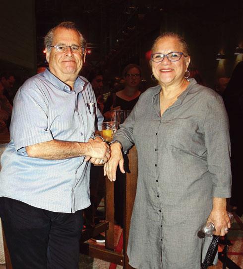 עם בעלה, ברוך דליות. חולקים מנה אחת (צילום: אמיר מאירי)