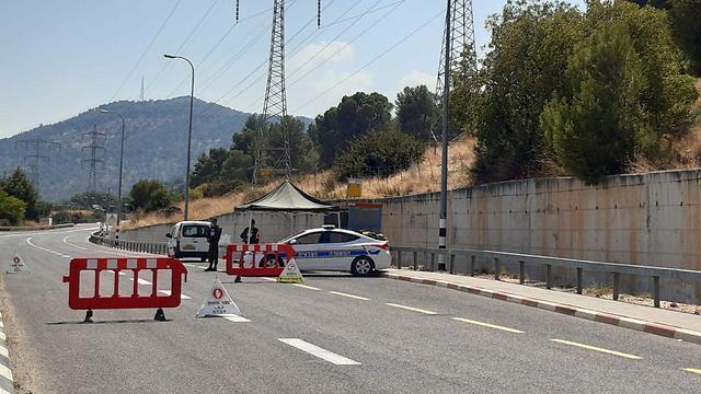 IDF roadblocks near the Lebanon border on Sunday