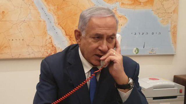 ראש הממשלה בנימין נתניהו בהתייעצות טלפונית ()