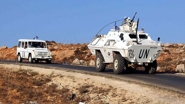 UNIFIL forces along the Israel-Lebanon border following the flare-up (Photo: AFP)