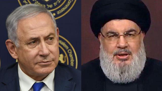 Prime Minister Benjamin Netanyahu and Hezbollah chief Hassan Nasrallah (Photo: AFP)