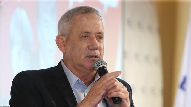בני גנץ במפגש ראשי מפלגות עם התעשייה הישראלית (צילום: מוטי קמחי)