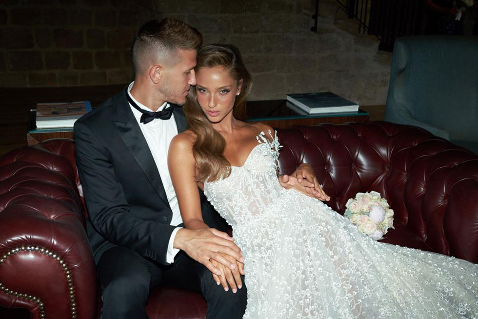 מראה רומנטי לתחילת החתונה. נטע אלחמיסטר (צילום: רון קדמי)