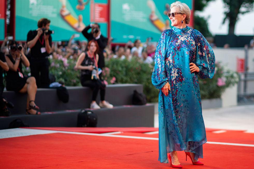 נינוחות אי אפשר לרכוש בכסף. מריל סטריפ בפסטיבל הסרטים בוונציה (צילום: AP)