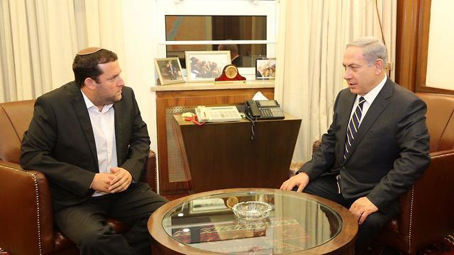 נתניהו וראש מועצת שומרון יוסי דגן (צילום: דוברות ראש הממשלה)