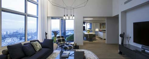 עיצוב דירה במגדלי yoo (צילום: יואב גורין)
