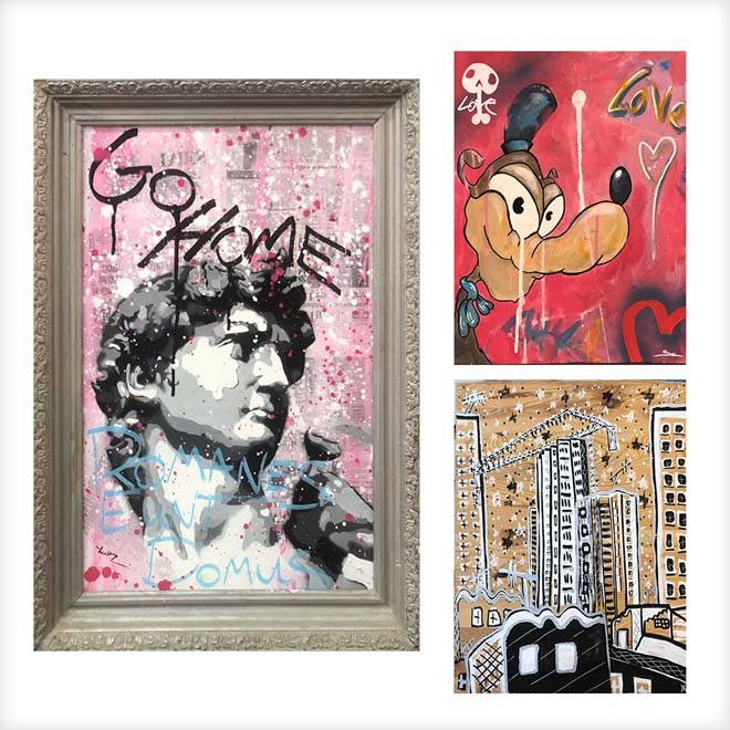 אמנות ''רחוב'': שי כץ, alef, ליאור בן אסייג (משמאל)