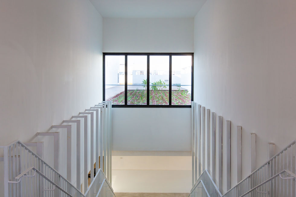 זכוכית ושקיפות הם אלמנטים בולטים בבית הספר, בהתאם למגמה שמוביל מינהל החינוך של עיריית ת''א-יפו בשנים האחרונות (צילום: דור נבו)