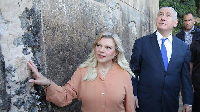 The Prime Minister and his wife visit Hebron (Photo: Emil Salman)