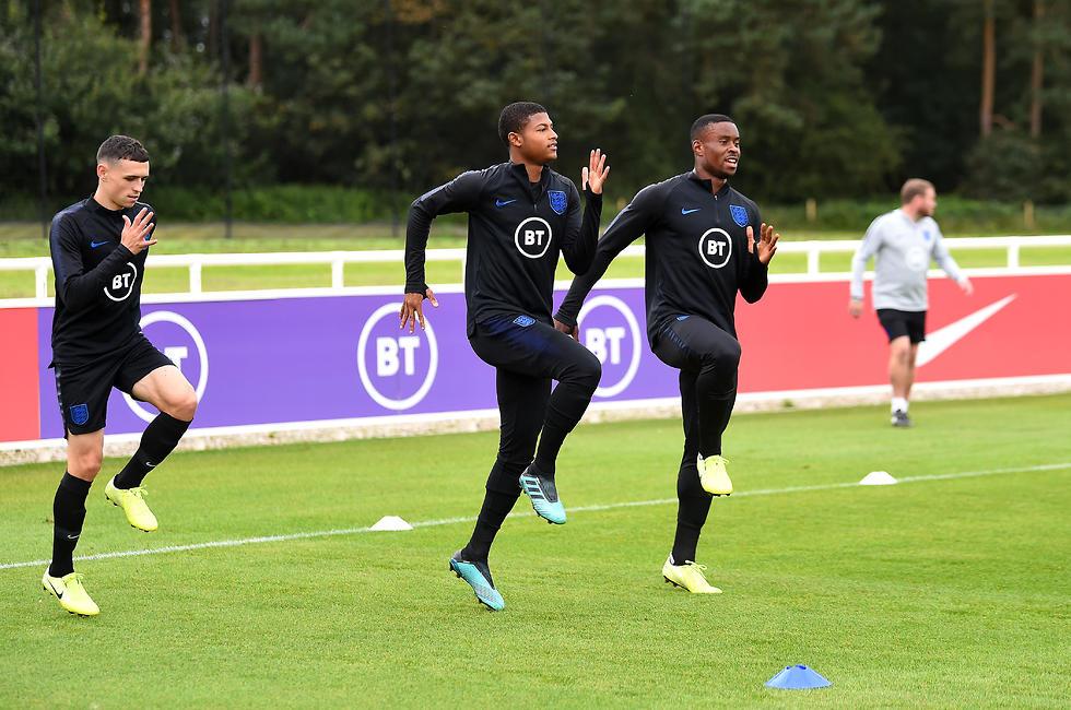 אימון נבחרת אנגליה (צילום: getty images)